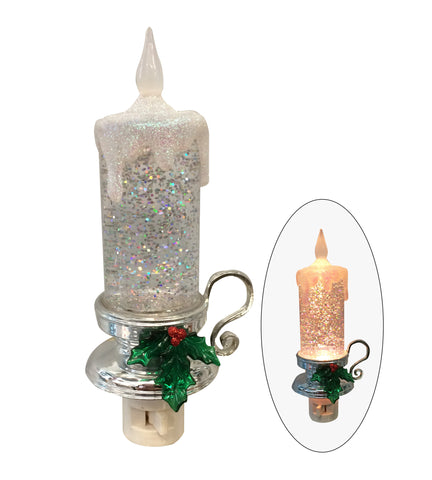 Candle with Mistletoe Nightlight