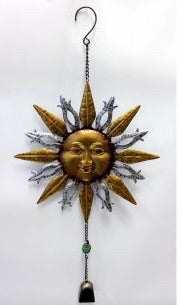 Metal Sun Face with Bell