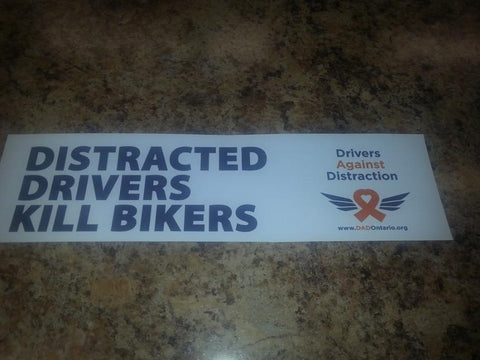 Bumper Sticker - Distracted Drivers Kill Bikers