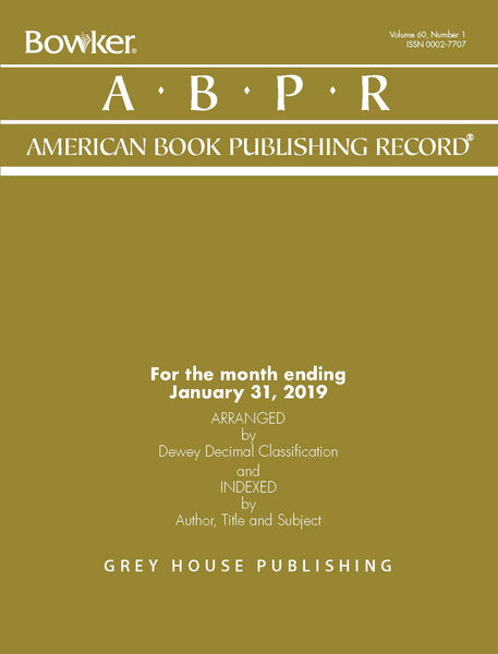 American Book Publishing Record Monthly, 2019 Subscription