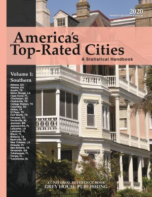 America's Top-Rated Cities, 4 Volume Set, 2020