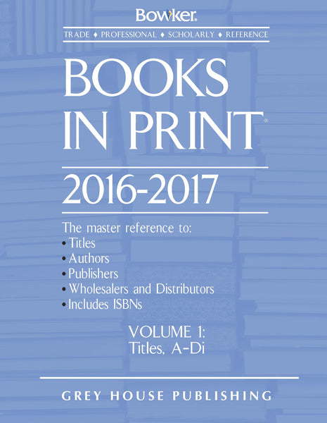 Books in Print - 7 Volume Set, 2016/17