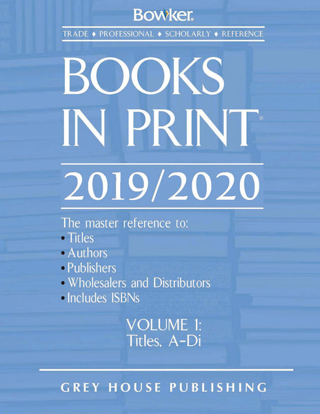 Books in Print - 7 Volume Set, 2019/2020