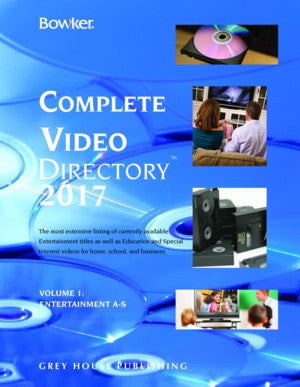 Bowker's Complete Video Directory - 4 Volume Set, 2017