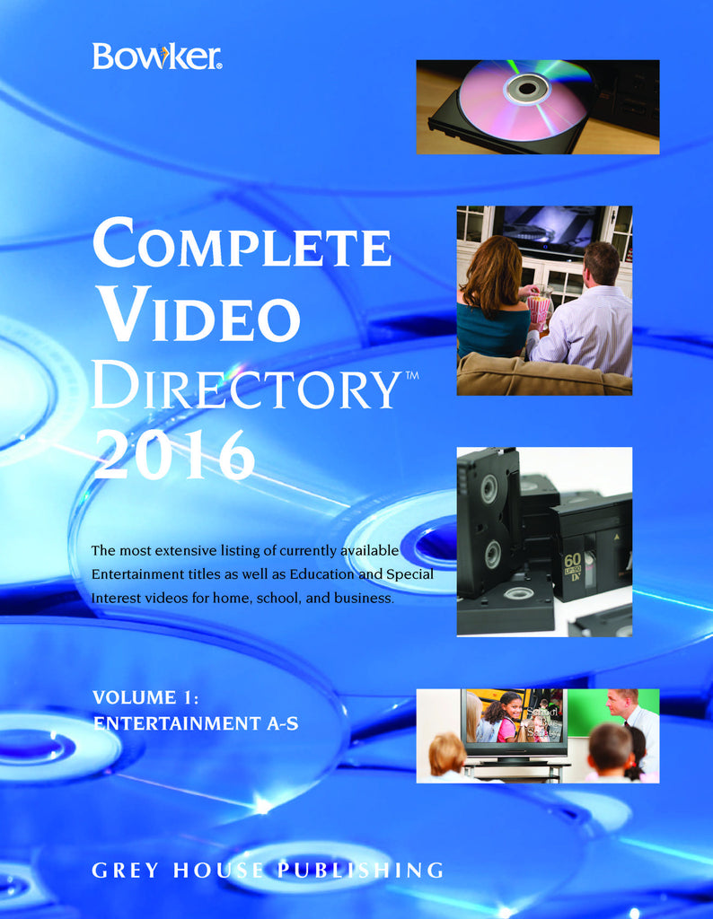 Bowker's Complete Video Directory - 4 Volume Set, 2016