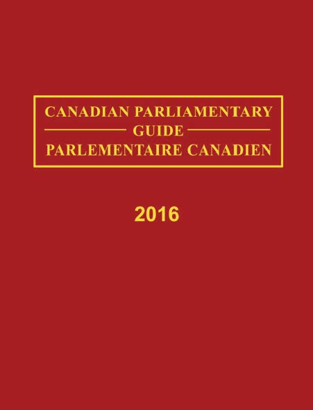 Canadian Parliamentary Directory, 2016