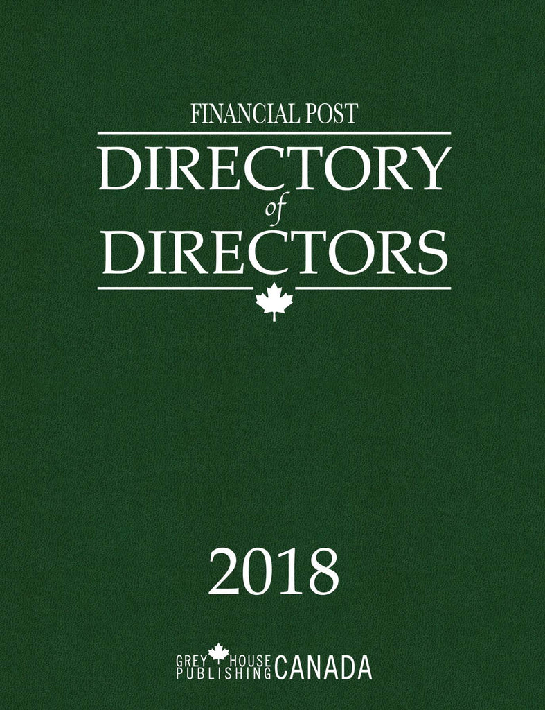 Financial Post Directory of Directors, 2018