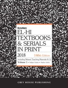 El-Hi Textbooks & Serials in Print - 2 Volume Set, 2018