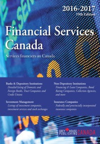 Financial Services Canada, 2016