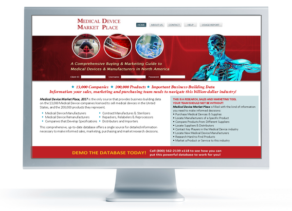 Medical Device Market Place Online (Annual Subscription)