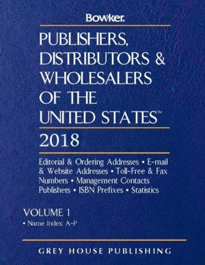 Publishers, Distributors & Wholesalers in the US - 2 Volume Set, 2018