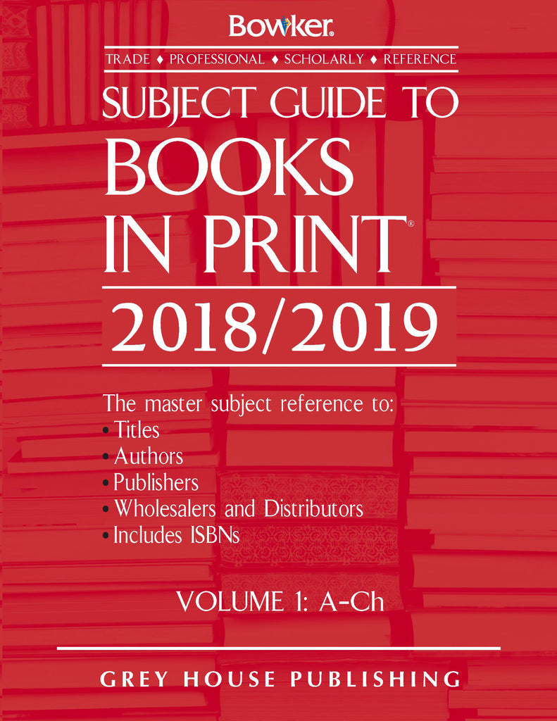 Subject Guide to Books in Print, 2018/19