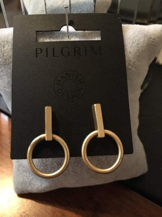 Pilgrim gold plated earring