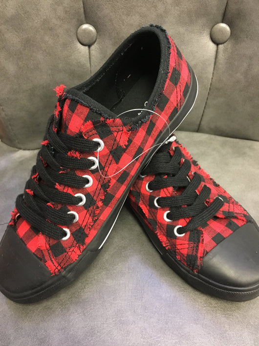 Printed Buffalo plaid sneaker by Giftcraft