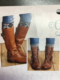 Grace and Lace patterned boot cuffs