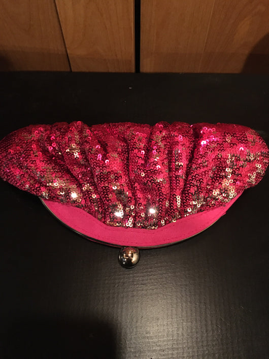 Benjamin Walk sequins fuchsia clutch