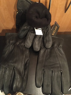 Auclair genuine deer skin men's lined gloves