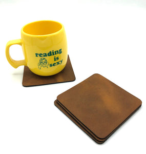 Customizable Leather Coasters (set of 4)