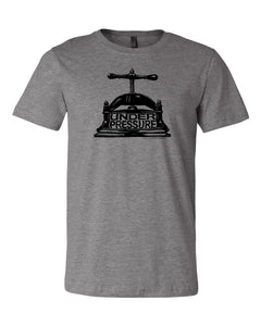 T-Shirt-HEATHER GRAY-Under Pressure, Little Mountain Bindery