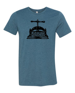T-Shirt-DEEP TEAL-Under Pressure, Little Mountain Bindery