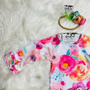 8683 Watercolor Baby Gown