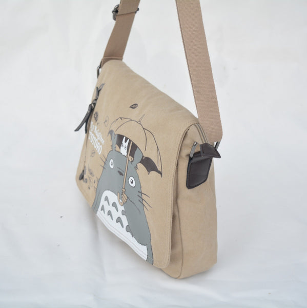 Totoro Canvas Messenger Bag