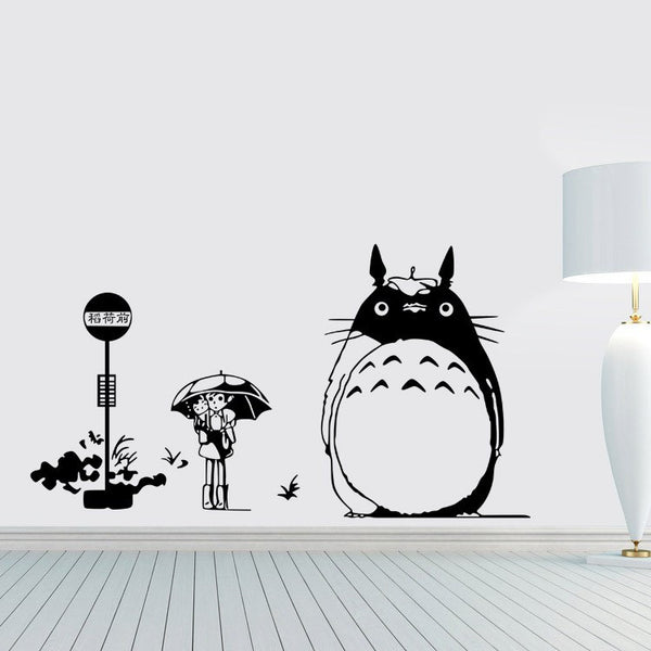 Totoro Bus Stop Wall Sticker