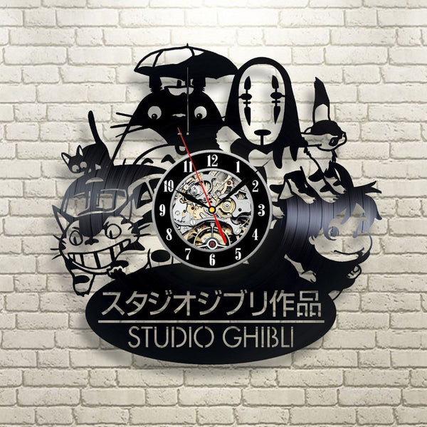 Studio Ghibli Vinyl Record Wall Clock