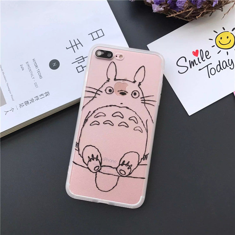 Cute Totoro Phone Case for iPhone 7 and 6/5
