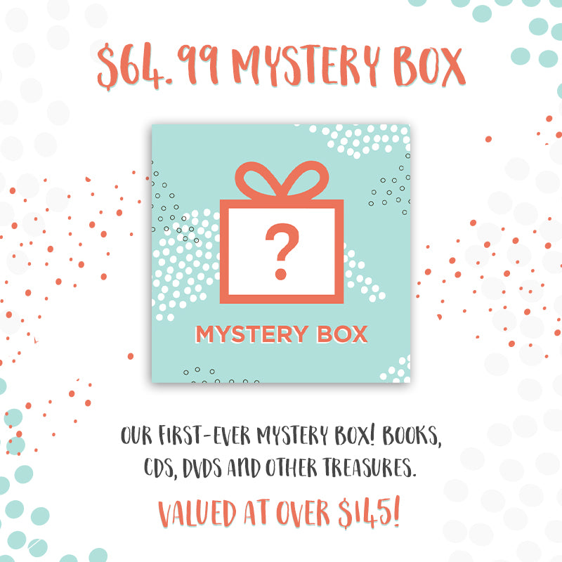 Mystery Box - Bethel Store | Books, CDs, DVDs, and other treasures with a retail value of over $145.