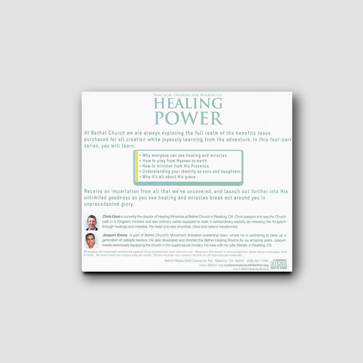 Practical Training for Walking in Healing Power