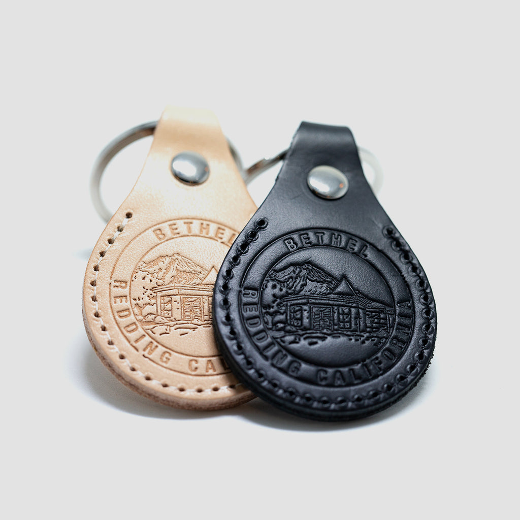 Bethel Stamp Leather Key Ring