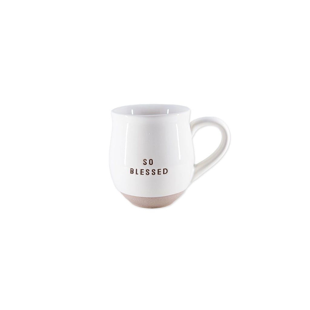 Blessed Ceramic Clay Dipped Mug