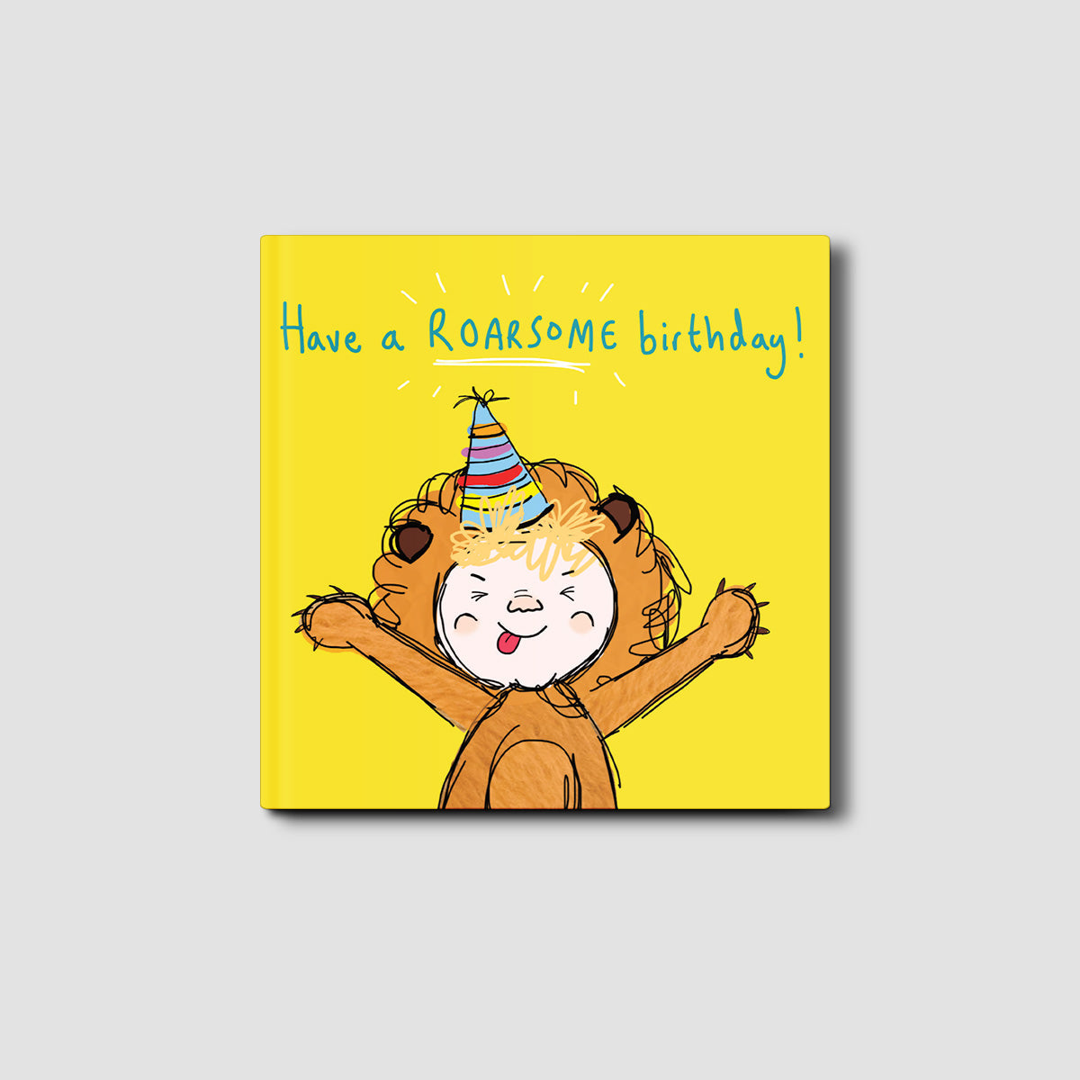 Have a Roarsome Birthday Silly Eric Card