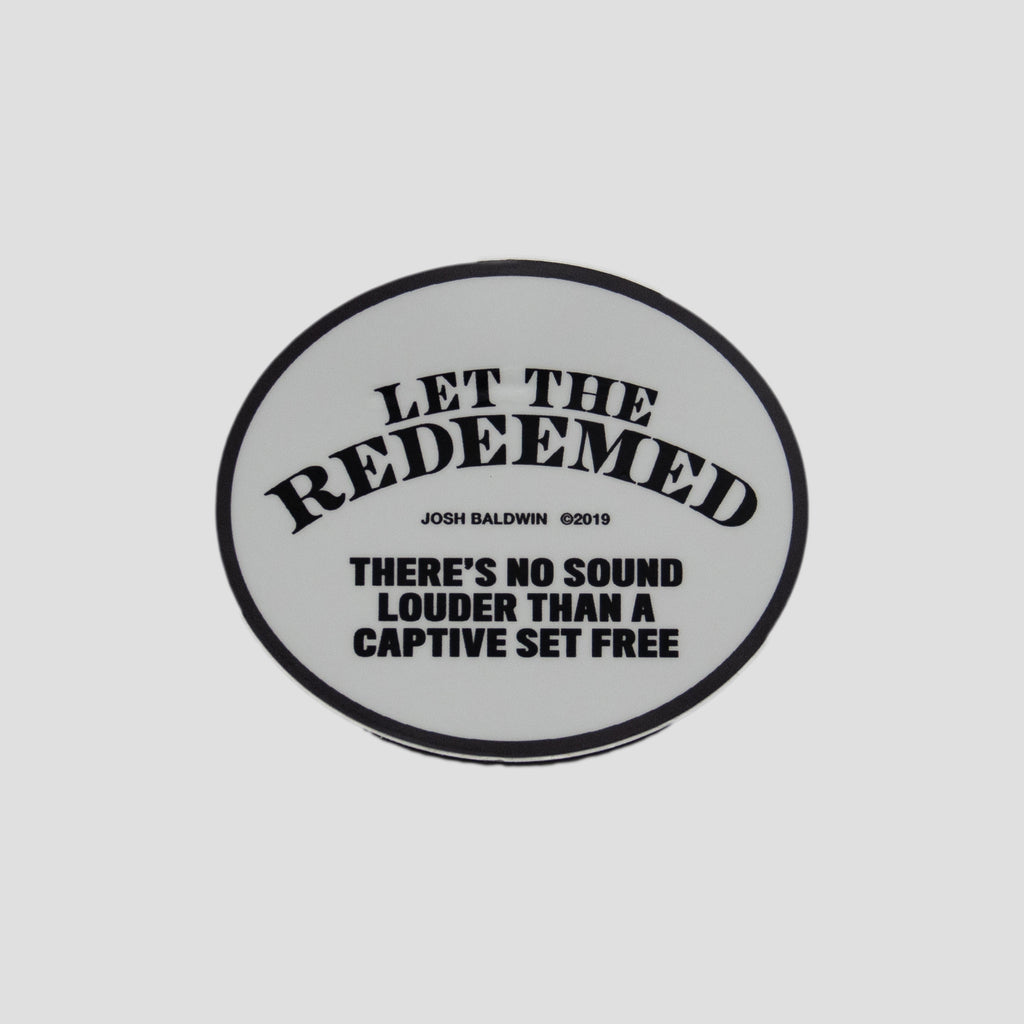 Let the Redeemed Circle Sticker