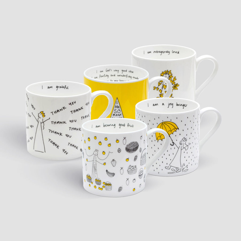 Set of 5 Mugs