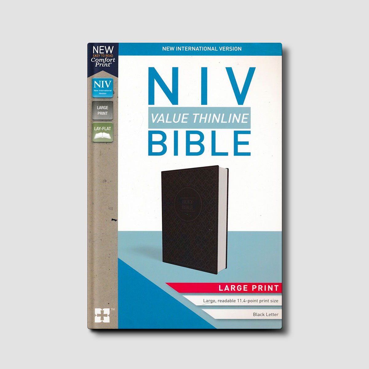 NIV Value Thinline Large Print Bible Black