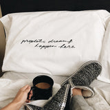 Prophetic Dreams Happen Here Pillow Case