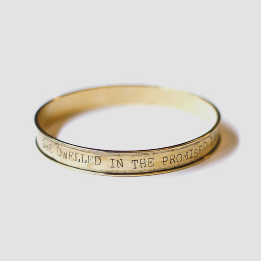 Rahab Stamped Bangle