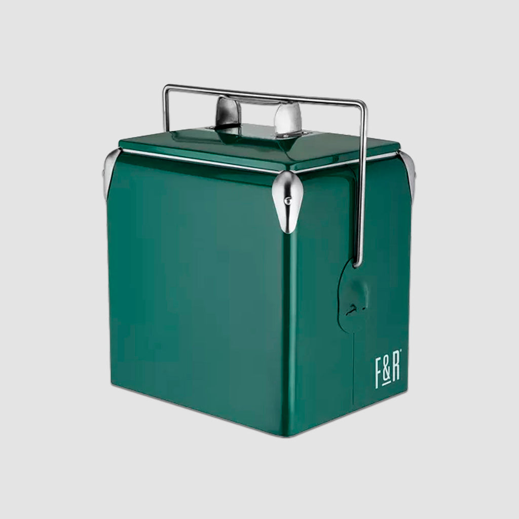 Vintage Metal Cooler - Green