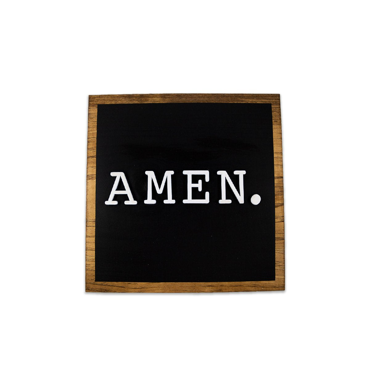 Amen Farmhouse Sign - Black