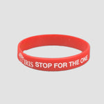 Stop for the One Silicone Wristband