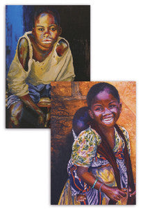 Village Boy/Village Girl Greeting Cards