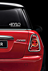 KYLO Hashtag Decal Sticker