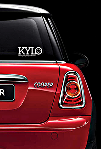 KYLO Heart Decal Sticker