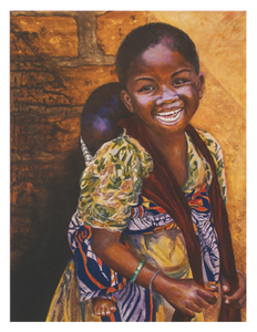 Village Girl Greeting Card