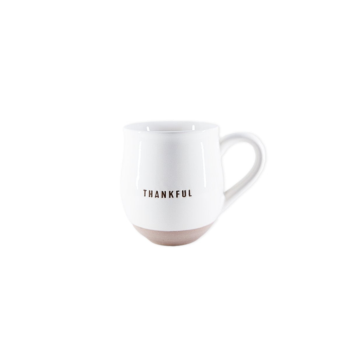 Thankful Ceramic Clay Dipped Mug