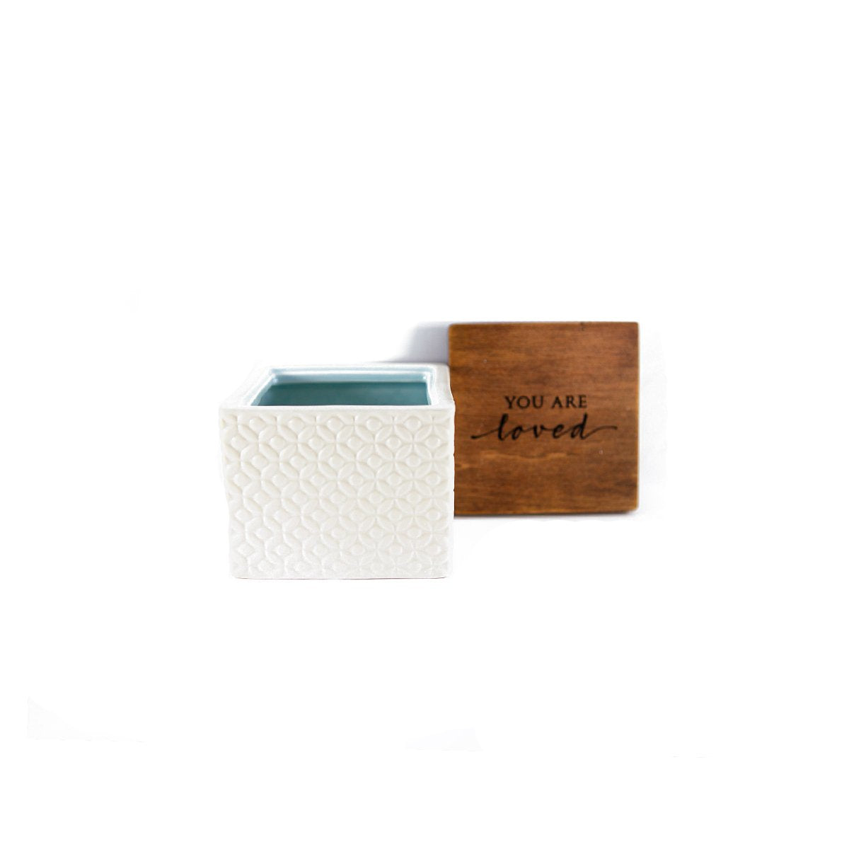 You Are Loved Ceramic Box with Wooden Lid