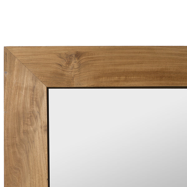 Espejo Rectangular · Madera de Teca · Natural