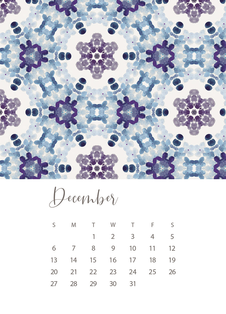 jenny bova desk calendar 2020 december